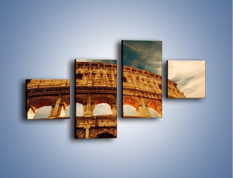 Obraz na płótnie – Koloseum w świetle słońca – czteroczęściowy AM044W3