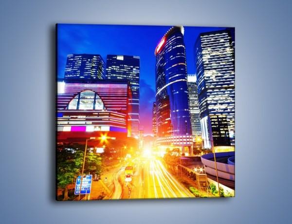Obraz na płótnie – Miasto w żywych kolorach – jednoczęściowy kwadratowy AM131