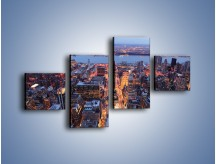 Obraz na płótnie – Budzące się ze snu miasto – czteroczęściowy AM097W3