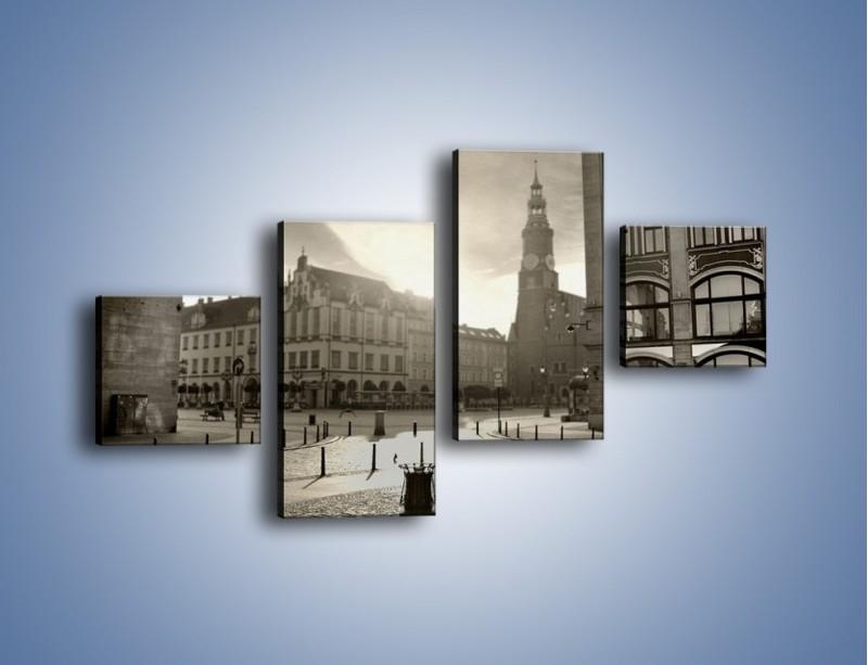 Obraz na płótnie – Rynek Starego Miasta – czteroczęściowy AM136W3