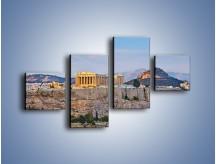 Obraz na płótnie – Ateńskie ruiny – czteroczęściowy AM162W3