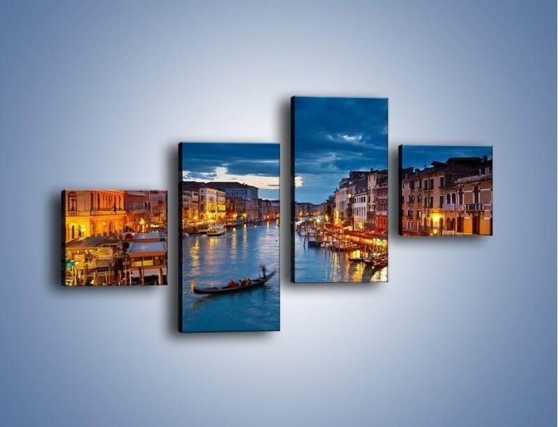 Obraz na płótnie – Wenecja romantyczną porą – czteroczęściowy AM163W3