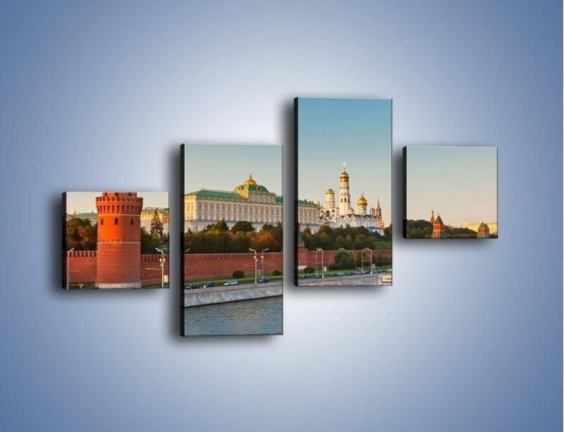 Obraz na płótnie – Kreml w środku lata – czteroczęściowy AM164W3