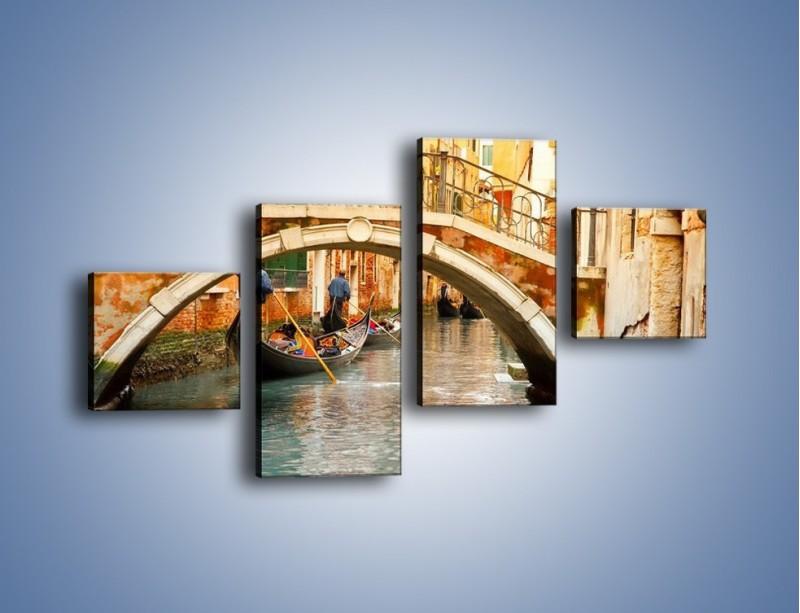 Obraz na płótnie – Weneckie gondole – czteroczęściowy AM172W3