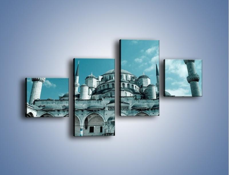 Obraz na płótnie – Taj Mahal – czteroczęściowy AM175W3