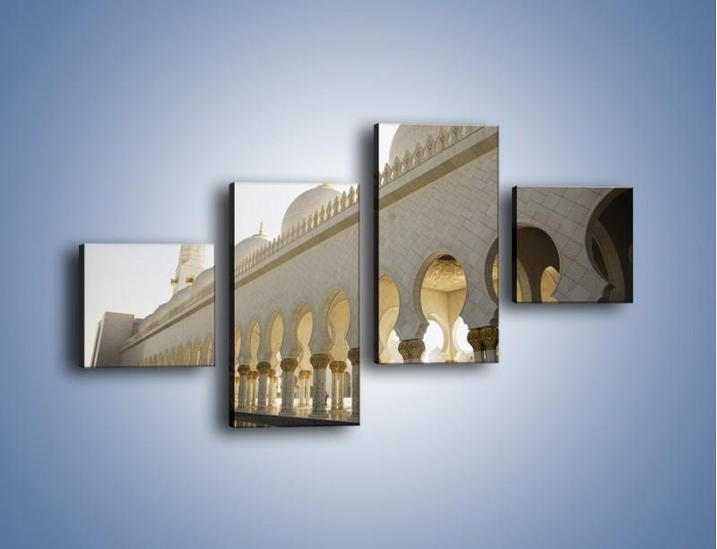 Obraz na płótnie – Bliskowschodnia architektura – czteroczęściowy AM177W3