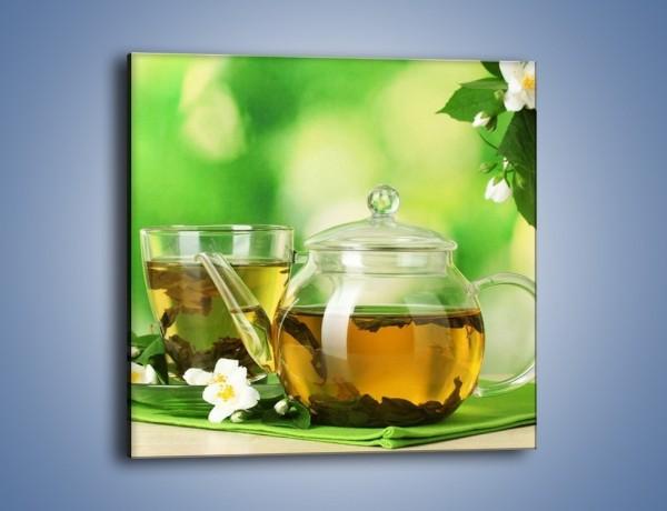 Obraz na płótnie – Herbaciane ukojenie – jednoczęściowy kwadratowy JN316