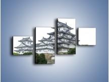 Obraz na płótnie – Azjatycka architektura – czteroczęściowy AM181W3