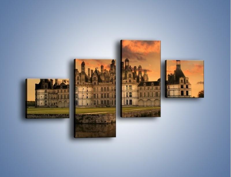 Obraz na płótnie – Stary zamek – czteroczęściowy AM200W3