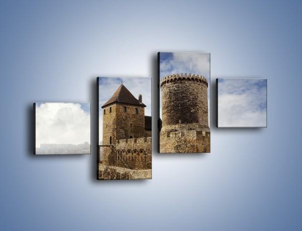 Obraz na płótnie – Średniowieczna fortyfikacja – czteroczęściowy AM201W3