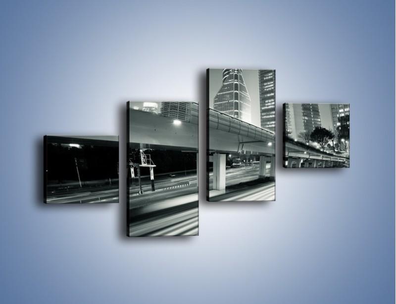 Obraz na płótnie – Miasto w odcieniach szarości – czteroczęściowy AM205W3