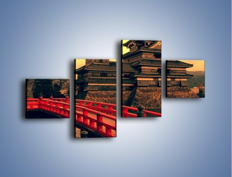 Obraz na płótnie – Japońska architektura – czteroczęściowy AM235W3