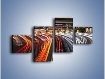 Obraz na płótnie – Autostradowa bramka w ruchu świateł – czteroczęściowy AM236W3