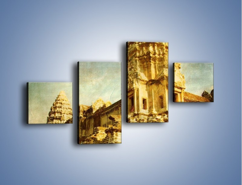 Obraz na płótnie – Starożytna architektura w stylu vintage – czteroczęściowy AM246W3