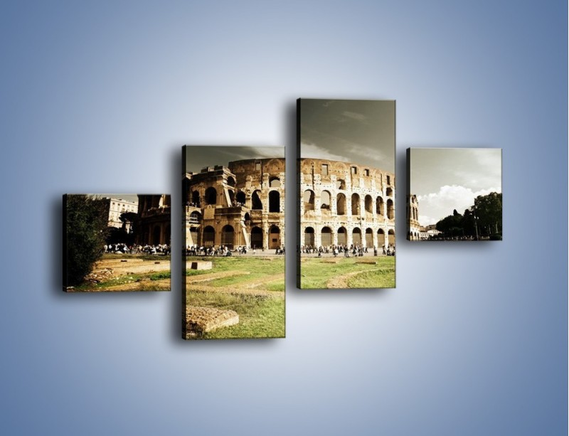 Obraz na płótnie – Koloseum przed burzą – czteroczęściowy AM271W3