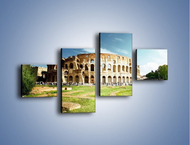 Obraz na płótnie – Koloseum w piękny dzień – czteroczęściowy AM273W3