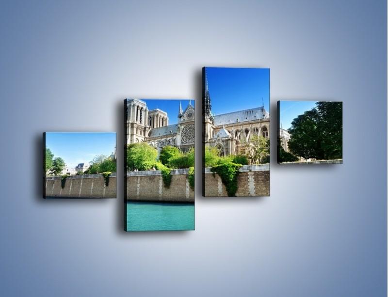 Obraz na płótnie – Katedra Notre-Dame – czteroczęściowy AM305W3