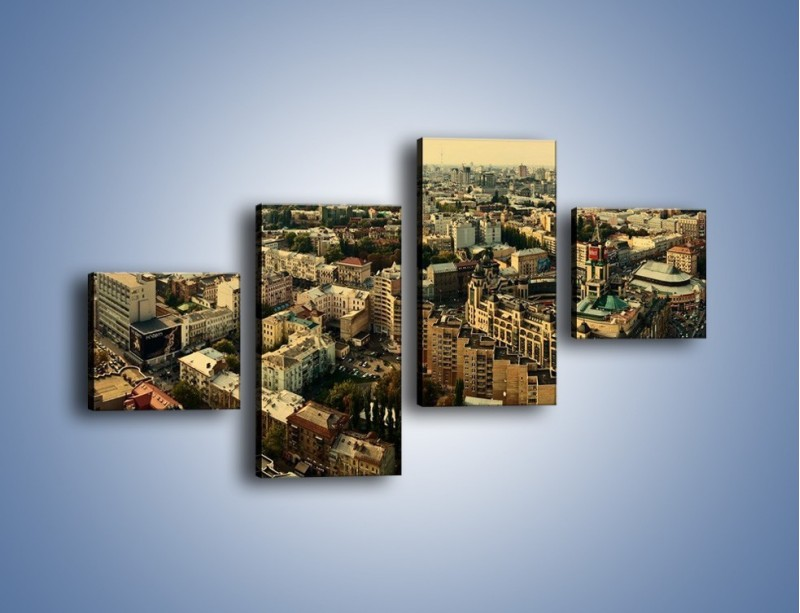 Obraz na płótnie – Panorama Kijowa – czteroczęściowy AM326W3