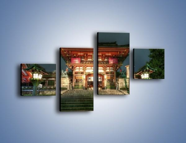 Obraz na płótnie – Świątynia w Kyoto – czteroczęściowy AM327W3