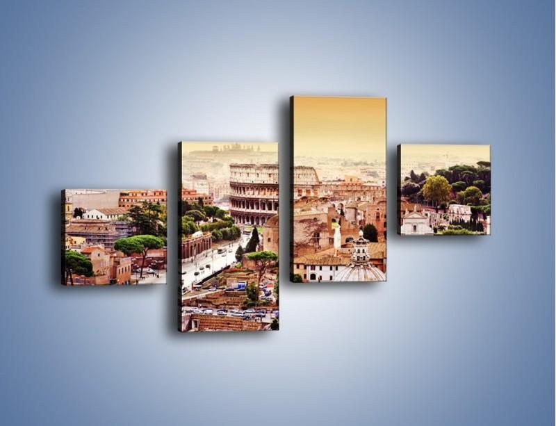 Obraz na płótnie – Panorama Rzymu – czteroczęściowy AM338W3