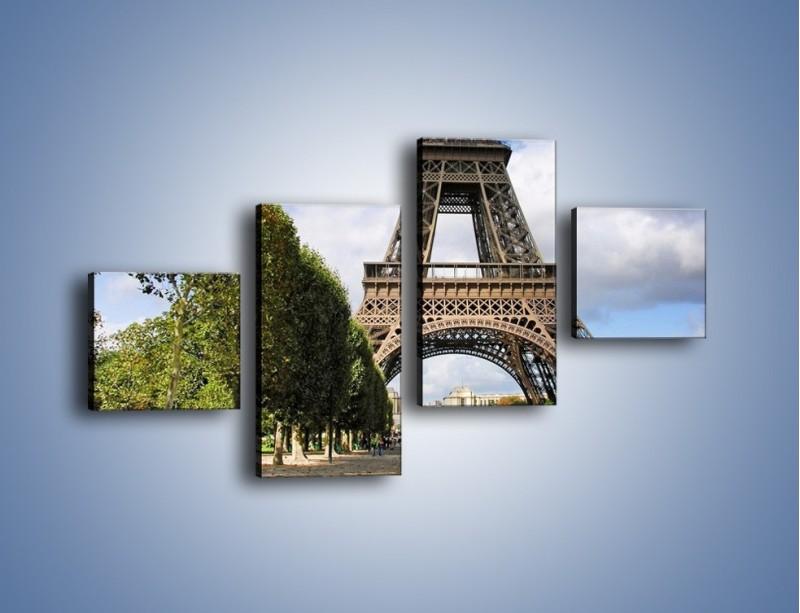 Obraz na płótnie – Wieża Eiffla – czteroczęściowy AM340W3