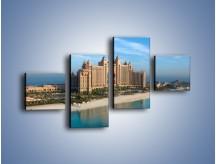 Obraz na płótnie – Atlantis Hotel w Dubaju – czteroczęściowy AM341W3