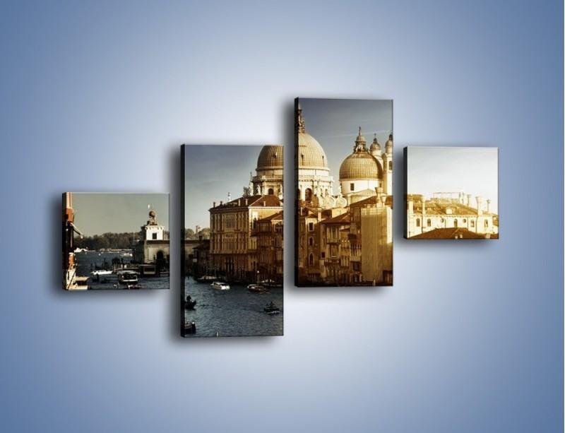 Obraz na płótnie – Zapadający zmrok na Wenecją – czteroczęściowy AM356W3