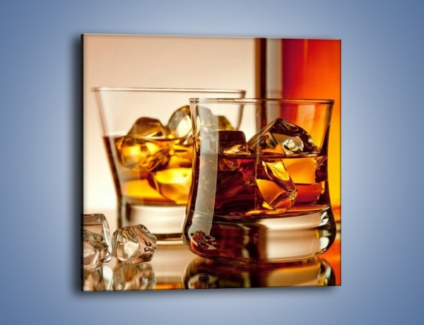 Obraz na płótnie – Męskie rozmowy przy whisky – jednoczęściowy kwadratowy JN318