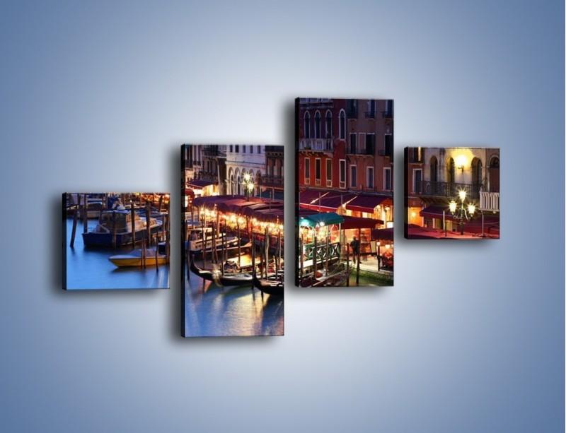 Obraz na płótnie – Wieczorowe życie w Wenecji – czteroczęściowy AM358W3