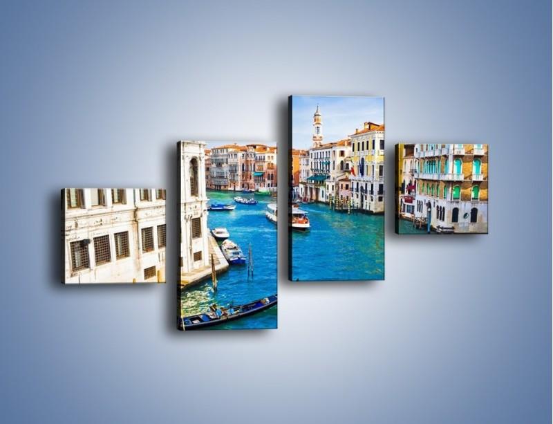 Obraz na płótnie – Kolorowy świat Wenecji – czteroczęściowy AM362W3