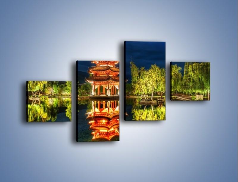 Obraz na płótnie – Urokliwy park w Chinach – czteroczęściowy AM365W3