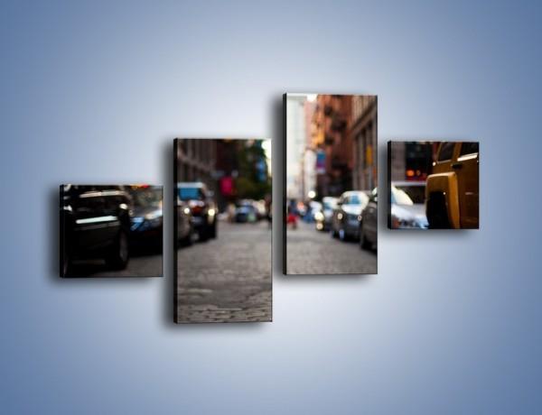 Obraz na płótnie – Rozmyty świat centrum miasta – czteroczęściowy AM367W3