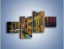 Obraz na płótnie – Cały urok Wenecji w jednym kadrze – czteroczęściowy AM371W3