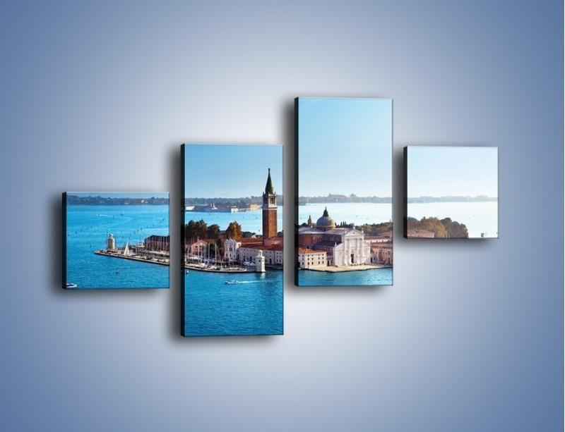 Obraz na płótnie – Wyspa San Giorgio Maggiore – czteroczęściowy AM380W3