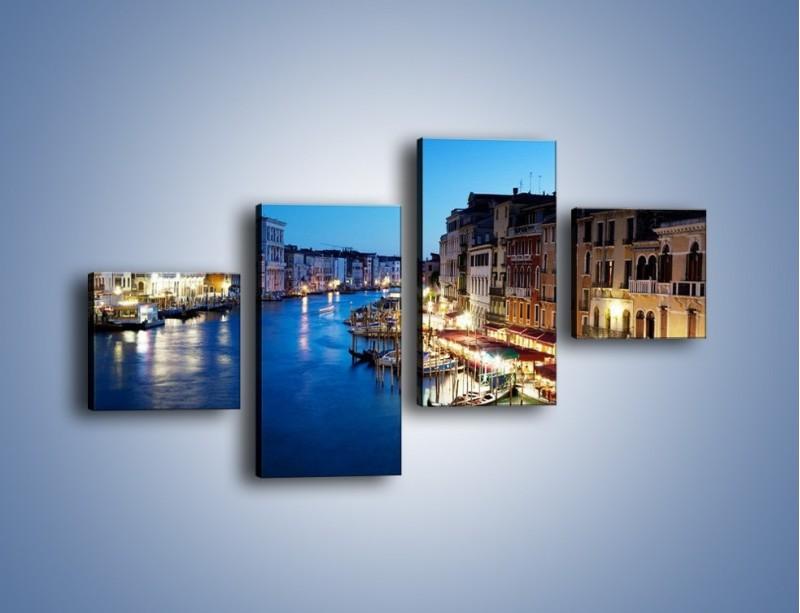 Obraz na płótnie – Zmierzch nad Wenecją – czteroczęściowy AM389W3