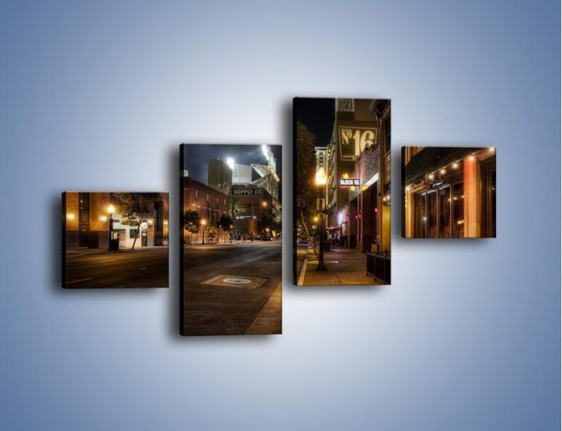 Obraz na płótnie – Ulica San Diego w Kaliforni – czteroczęściowy AM390W3