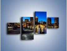 Obraz na płótnie – Boston wieczorową porą – czteroczęściowy AM393W3