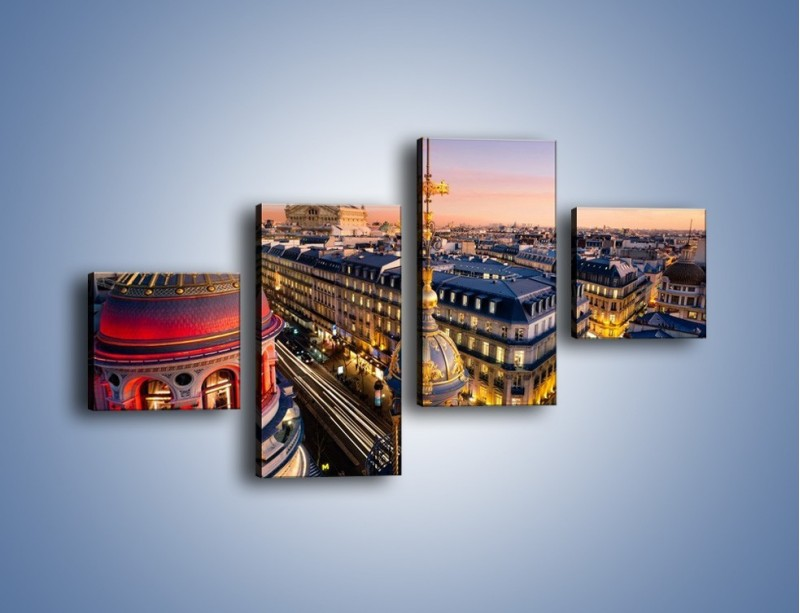 Obraz na płótnie – Paryska architektura – czteroczęściowy AM402W3