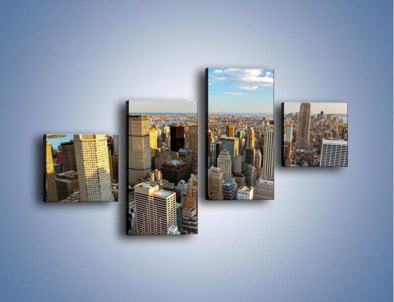 Obraz na płótnie – Manhattan w Nowym Yorku – czteroczęściowy AM412W3