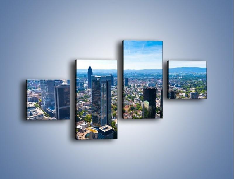 Obraz na płótnie – Panorama Frankfurtu – czteroczęściowy AM414W3