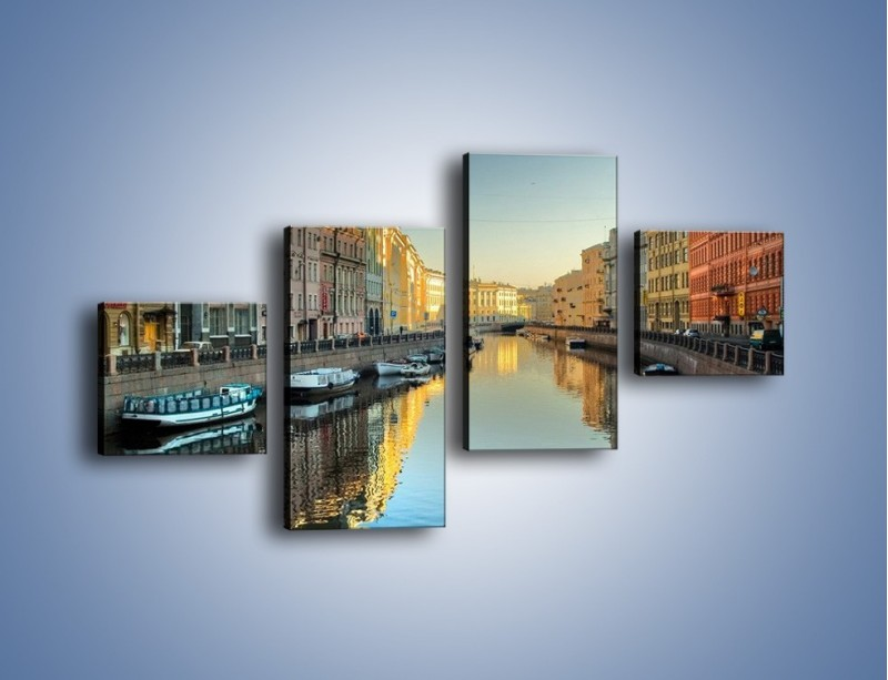 Obraz na płótnie – Kanał wodny w St. Petersburgu – czteroczęściowy AM422W3