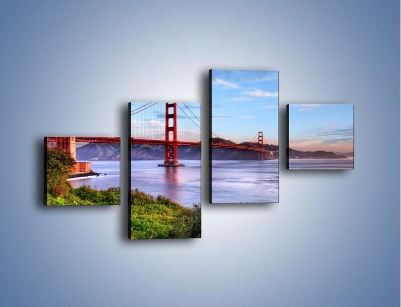 Obraz na płótnie – Most Golden Gate w San Francisco – czteroczęściowy AM444W3