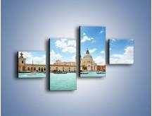 Obraz na płótnie – Canal Grande w Wenecji – czteroczęściowy AM449W3
