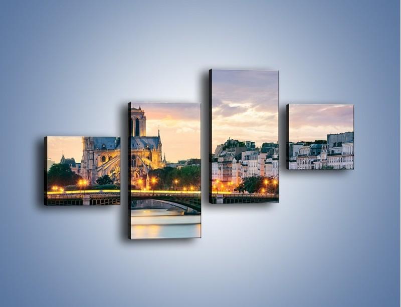 Obraz na płótnie – Katedra Notre Dame – czteroczęściowy AM454W3