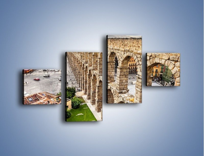 Obraz na płótnie – Akwedukt w Segowii – czteroczęściowy AM456W3