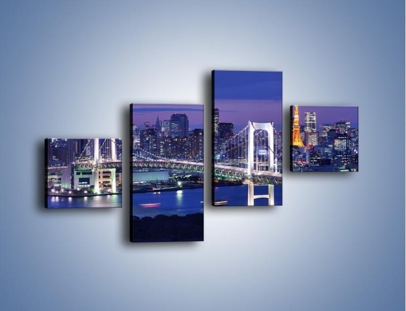 Obraz na płótnie – Tęczowy Most w Tokyo – czteroczęściowy AM460W3