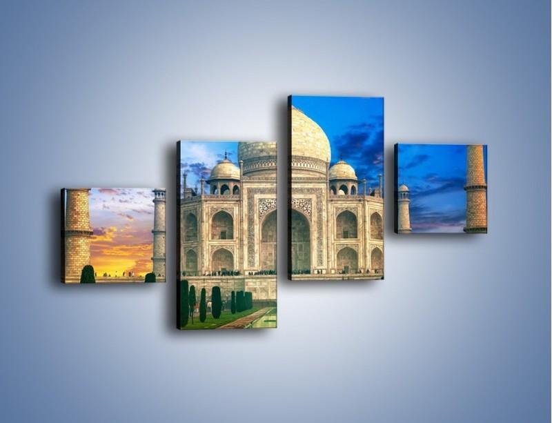 Obraz na płótnie – Tadź Mahal pod niebieskim niebem – czteroczęściowy AM466W3