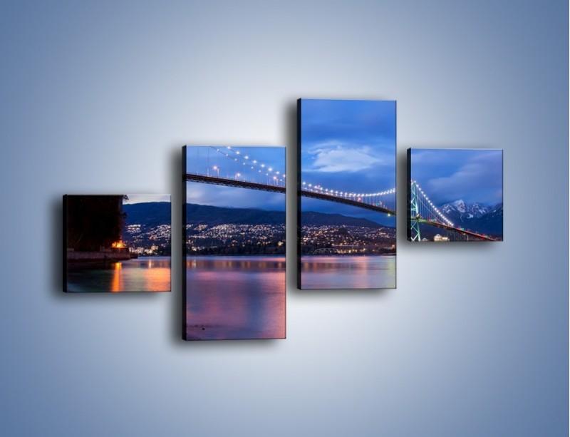 Obraz na płótnie – Most Lions Gate w Vancouver – czteroczęściowy AM471W3