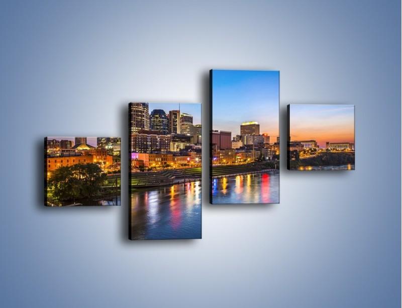 Obraz na płótnie – Nashville nad rzeką Cumberland – czteroczęściowy AM491W3