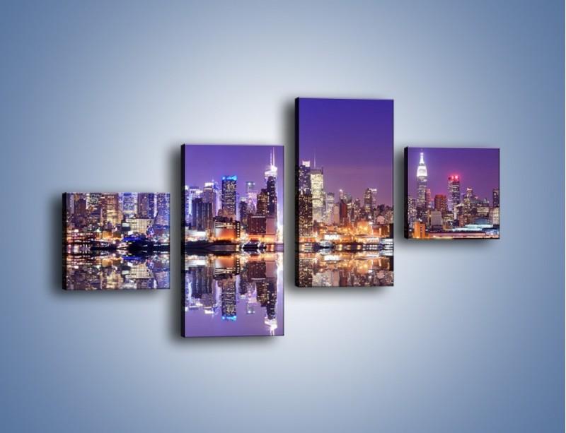 Obraz na płótnie – Panorama Midtown Manhattan – czteroczęściowy AM492W3